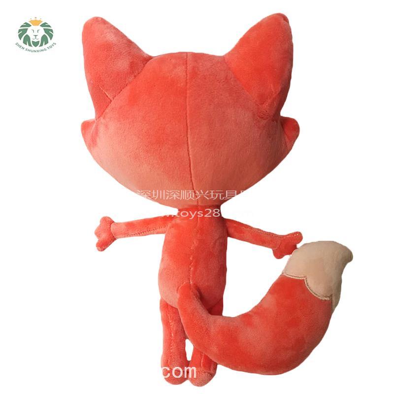 吉祥物动物狐狸必威体育betway777来图定做牛年礼品玩偶