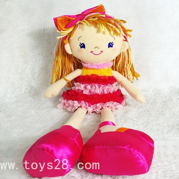 必威体育app 下载地址工厂定制儿童礼物毛线头发女孩卡通娃娃